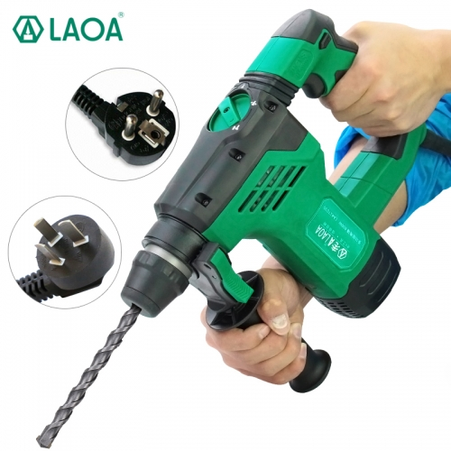 LAOA New product multi-functional 30mm diameter triple-purpose electric drill,hammer