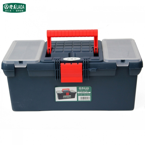 LAOA 16 inch Reinforced Multifunctional Plastic Tool Box