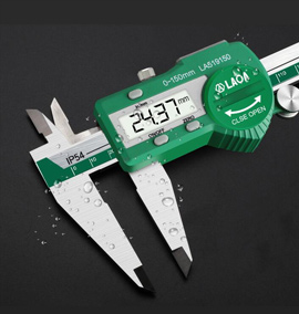 LAOA Digital Vernier Caliper Waterproof Stainless Steel Industrial Electronic Measurement 0-150mm Measuring ruler