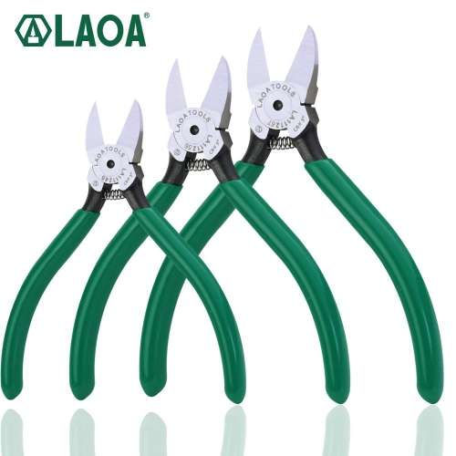 1 pc LAOA CR-V Plastic pliers 4.5/5/6/7inch Jewelry Electrical Wire Cable Cutters Cutting Side Snips Hand Tools Electrician tool