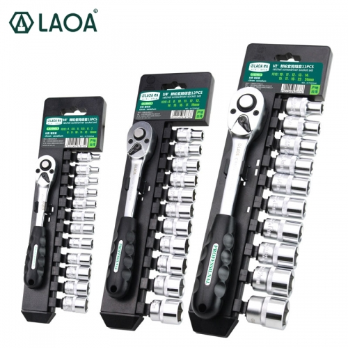 LAOA Ratchet Socket Wrench Set Car Repair Tool Set CrV Drive Spanner Wrench for Bicycle Motorcycle Car Repairing Tool Set